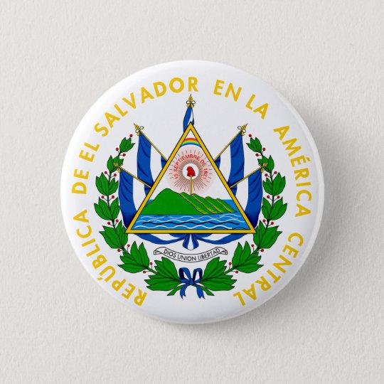 el salvador emblem pinback button