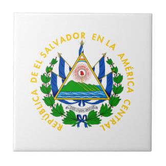 El Salvador - emblema/bandera/escudo de armas/símb Azulejo Cuadrado Pequeño