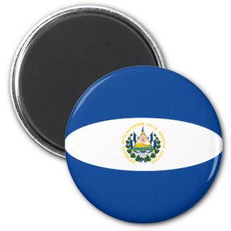 El Salvador Fisheye Flag Magnet