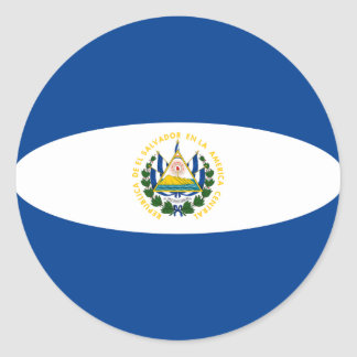 El Salvador Fisheye Flag Sticker