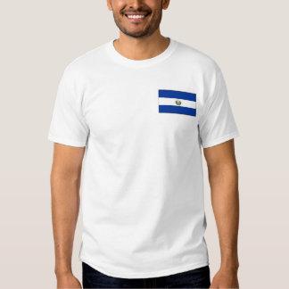 El Salvador Flag and Map T-Shirt