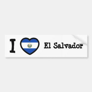 El Salvador Flag Bumper Sticker