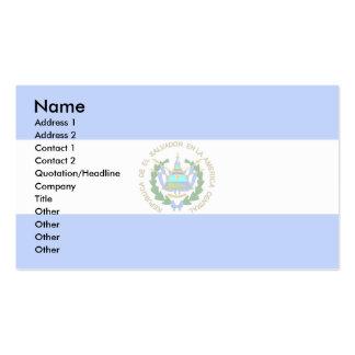El Salvador Flag Business Cards