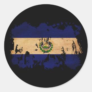 El Salvador Flag Classic Round Sticker