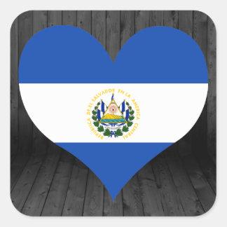 El+Salvador flag colored Square Sticker