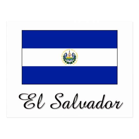 El Salvador Flag Design Postcard