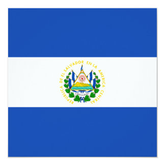 El Salvador Flag Invitation