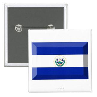 El Salvador Flag Jewel Button