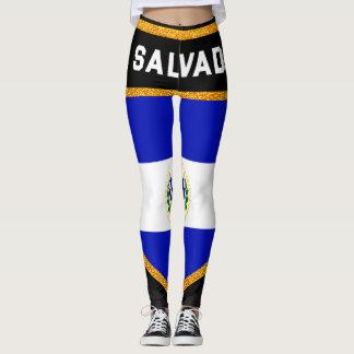 El Salvador Flag Leggings