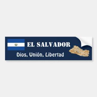 El Salvador Flag + Map Bumper Sticker