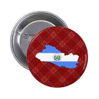 El Salvador Flag Map full size Pins