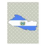 El Salvador Flag Map full size Postcard