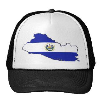 El Salvador Flag Map Trucker Hat