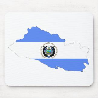 El Salvador Flag Map Mouse Pad