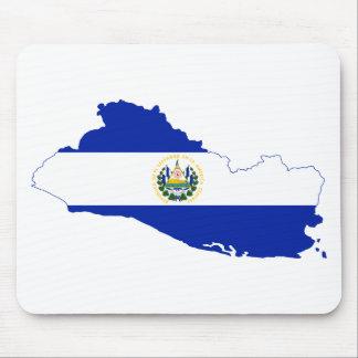 El Salvador Flag map SV Mouse Pad