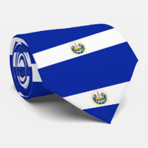 El Salvador flag Neck Tie
