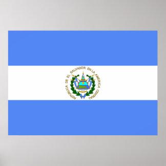 El Salvador Flag Poster