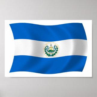 El Salvador Flag Poster Print