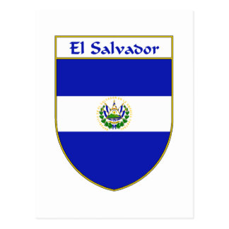 El Salvador Flag Shield Postcard