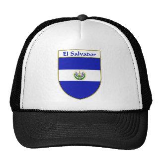 El Salvador Flag Shield Trucker Hat