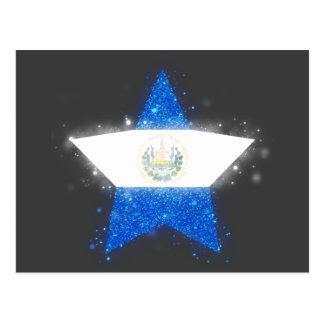 El Salvador Flag Shining Postcard
