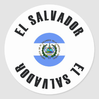 El Salvador Flag Simple Classic Round Sticker