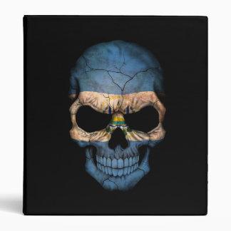 El Salvador Flag Skull on Black Binders
