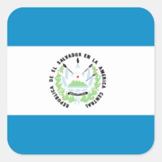 El Salvador Flag Square Sticker