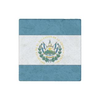 El Salvador Flag Stone Magnet