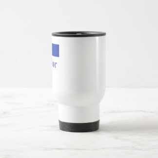 El Salvador Flag with Name 15 Oz Stainless Steel Travel Mug