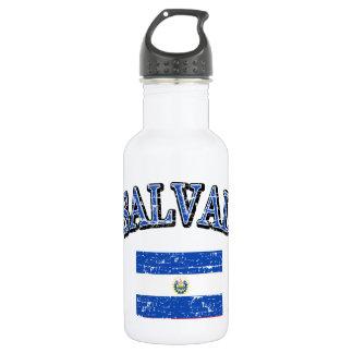El Salvador football design 18oz Water Bottle