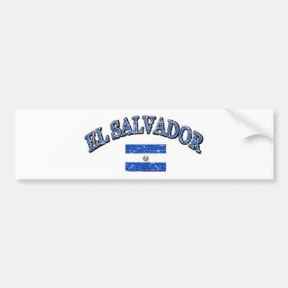 El Salvador football design Bumper Sticker