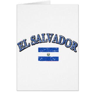 El Salvador football design Card