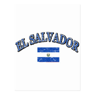 El Salvador football design Postcard