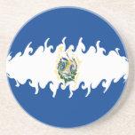 El Salvador Gnarly Flag Drink Coaster