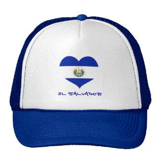 El Salvador heart trucker hat