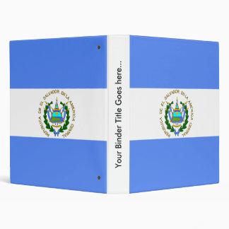 El Salvador High quality Flag 3 Ring Binder
