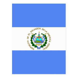 El Salvador High quality Flag Postcard
