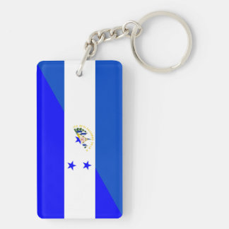 el salvador honduras half flag country symbol keychain