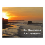 El Salvador, La Libertad, salida del sol del EL Su Postales
