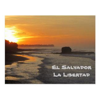 El Salvador La Libertad salida del sol del EL Su Postal