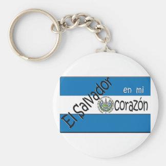 El Salvador Llavero con bandera Keyring Keychain