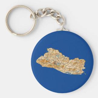 El Salvador Map Keychain