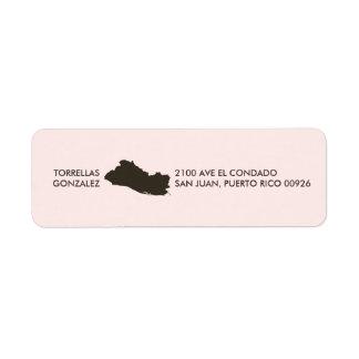 El Salvador Map: Personalized: Pink Label