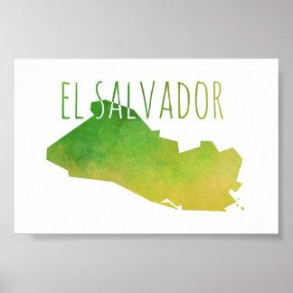 El Salvador Map Poster