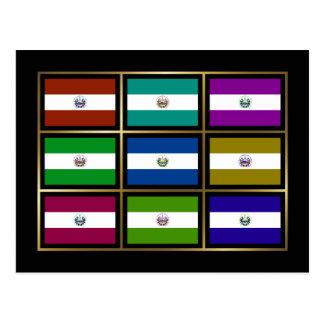 El Salvador Multihue Flags Postcard