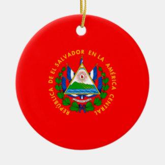 EL SALVADOR * ornamento del navidad Adorno Navideño Redondo De Cerámica