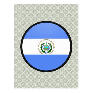 El Salvador quality Flag Circle Postcard