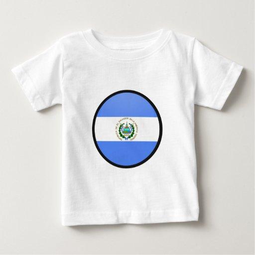 El Salvador quality Flag Circle Tees