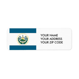 El Salvador Return Address Label
